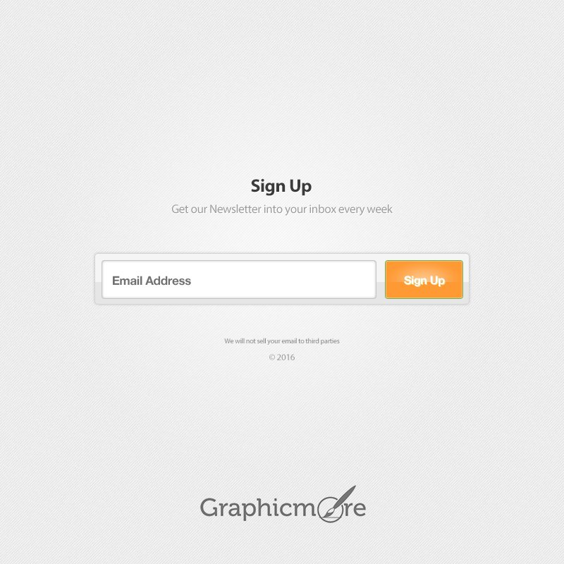 Weekly Newsletter Signup Form by GraphicMore