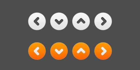 White and Orange Button Free PSD File Download