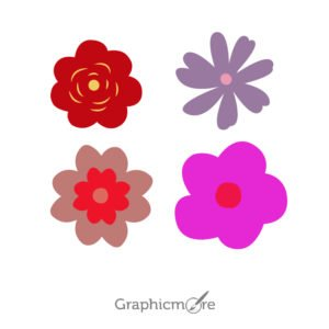 Beautiful Fower Set Free Vector File