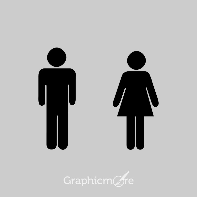 Male Female Toilet Signs Free PSD Templates