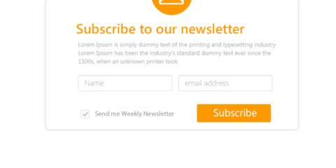 Modern Responsive Newsletter Subsciption Form