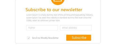 Modern Responsive Newsletter Subsciption Form