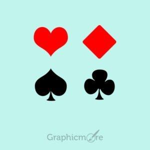Plying Cards Symbols PSD Templates