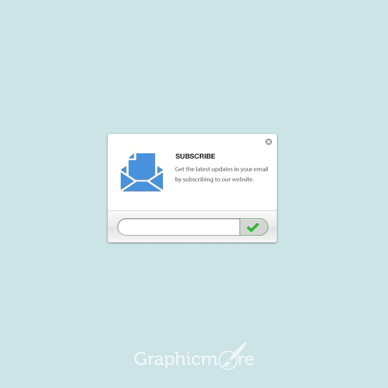 Simple Subscribe Form Free PSD File by GraphicMore