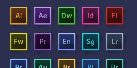 Adobe Creative Suite Icons Design Free PSD File