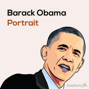 Barack Obama Portrait Free Vector File
