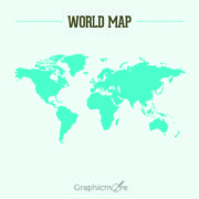 Blue World Map Design Free Vector File