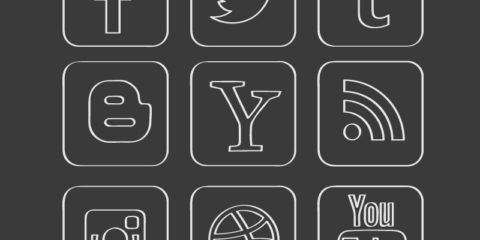 Chalkboard Social Media Icons Set Design Free Vector File