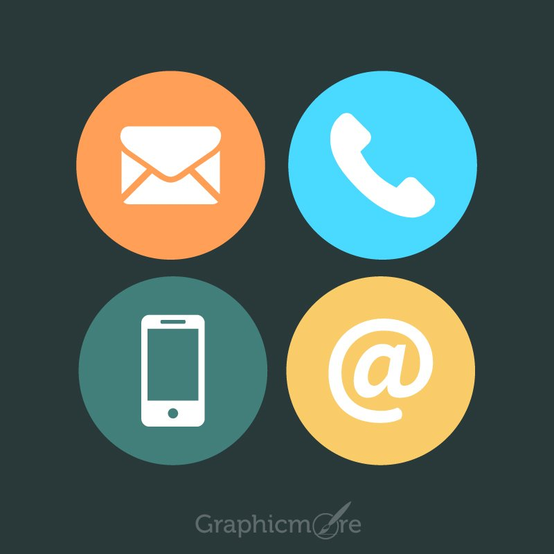 Communication Icons Set Design Free Vector File