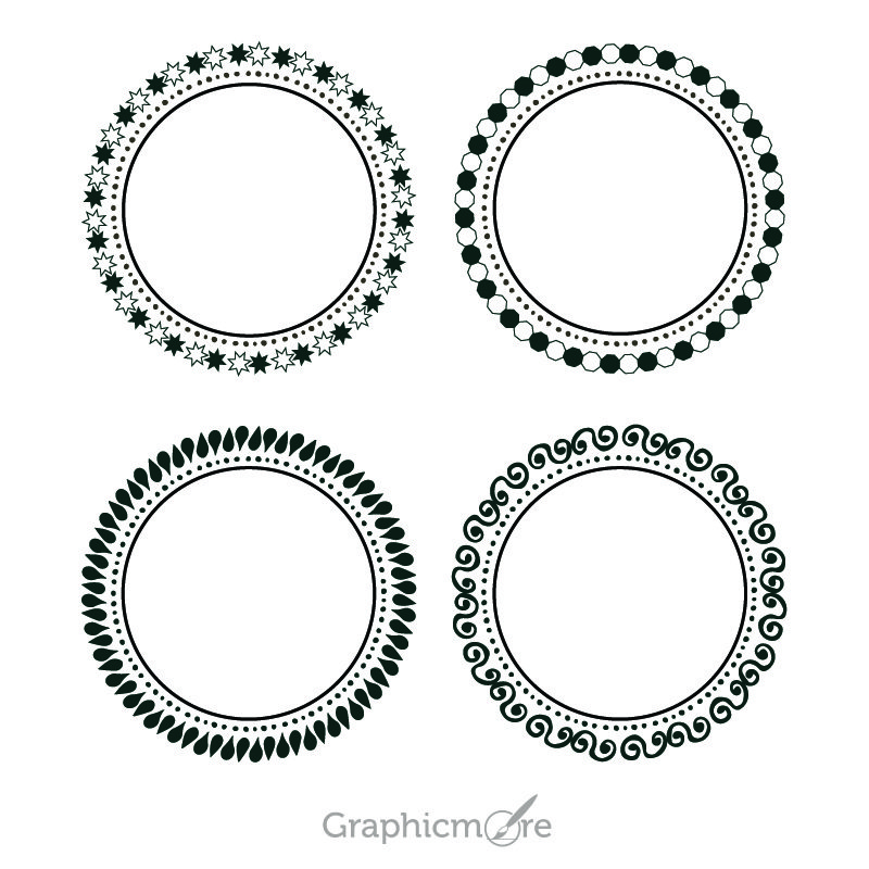 Cute Decorative Shapes Set Design Free Vector File