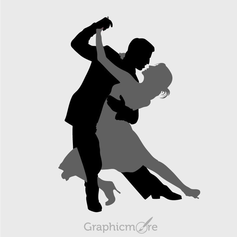 Dancing Couple Silhouette Design Free Vector File