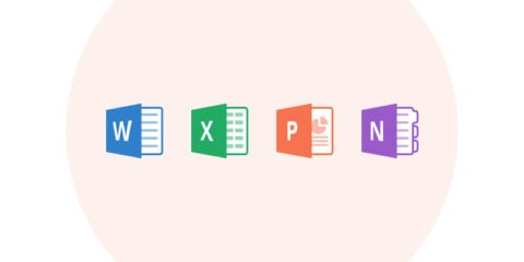 Flat Microsoft Office Icons Design Free PSD File