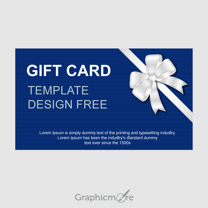 Gift Card Template Design Free Vector File