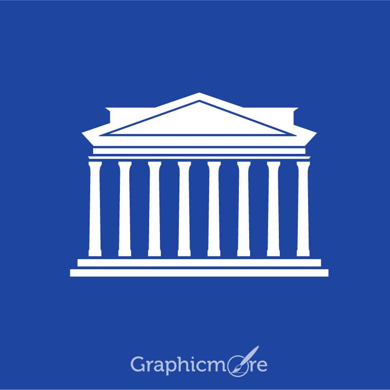 Greek Architecture Icon Symbol Design Free Vector