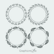 Hand Drawn Decorative Frames Design Free Vector File