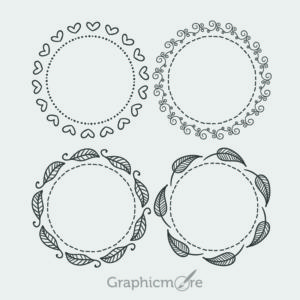 Hand Drawn Decorative Frames Design Free Vector File