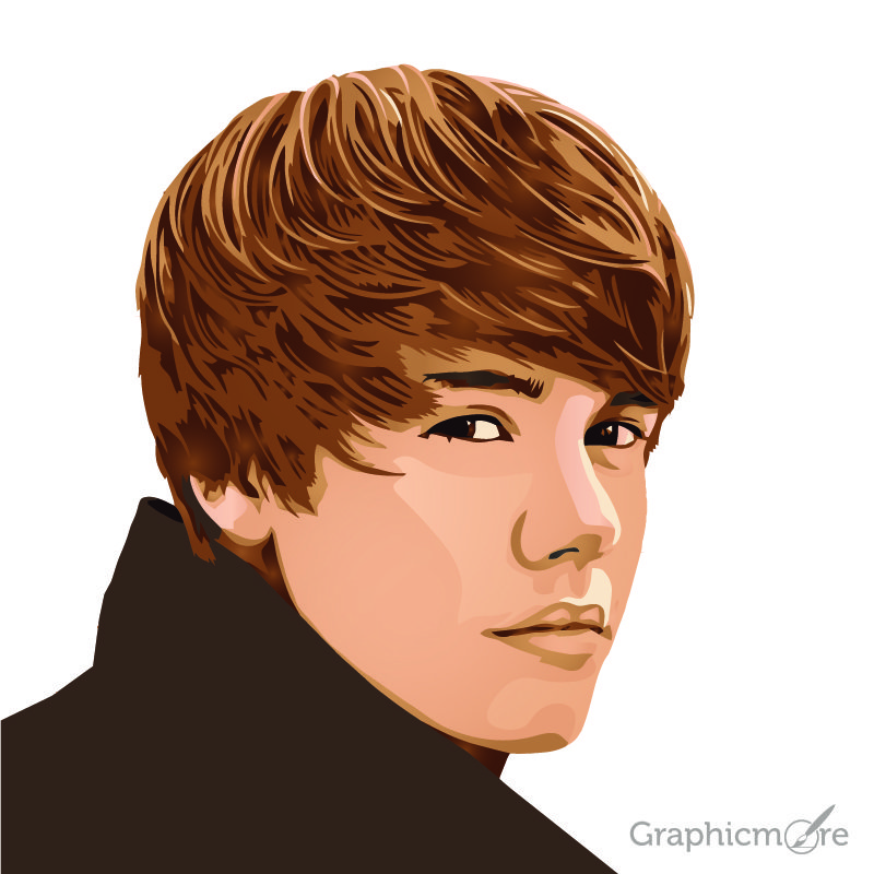 Justin Bieber Portrait Design Free Vector File