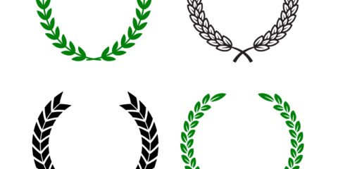 Olive Wreath Shapes Design Free Vector File