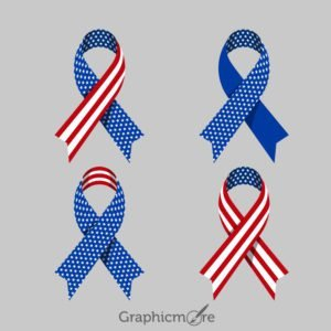 Patriotic Ribbons Design Free Vector File