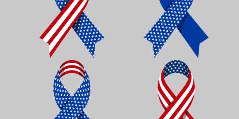 Patriotic Ribbons Design Free Vector File