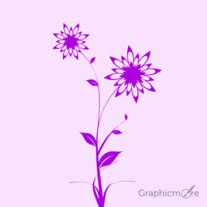 Pink Flower Design Free Vector File