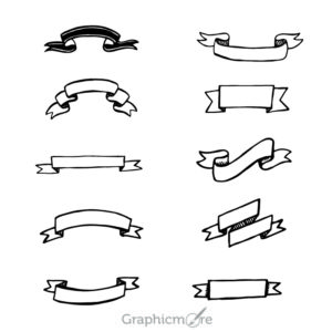 10 Best Hand Drawn Ribbons Design Free Vector File