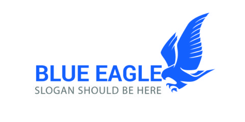 Blue Eagle Sample Logo Design Free Vector File