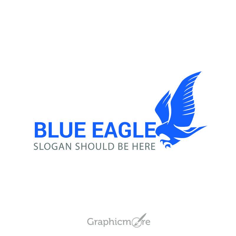 Blue Eagle Sample Logo Design Free Vector File