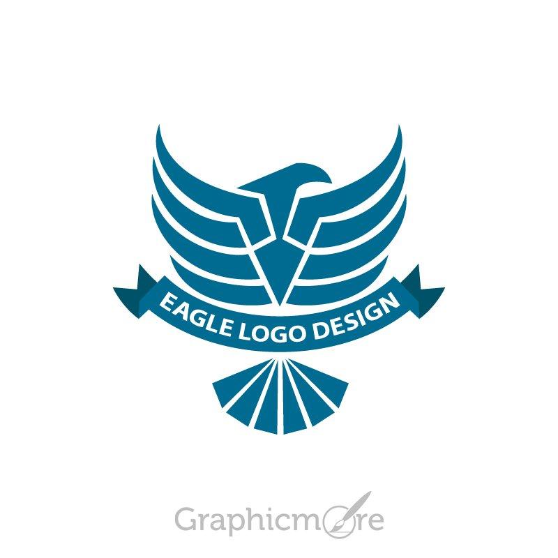 eagle dark blue logo design free psd file download