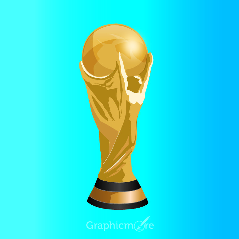 football world cup trophy free vector file download