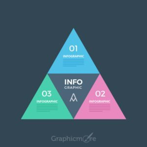 Modern Triangle Design for Infographics Free PSD File