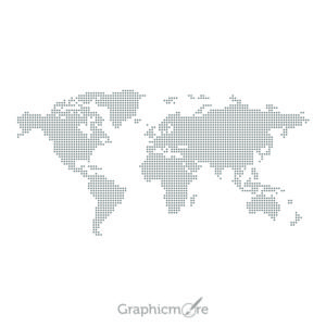 World Dotted Map Design Free Vector File
