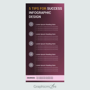 5 Tips for Success Infographic Design Free PSD File by GraphicMore