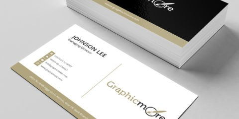 Black & Gloden Creative Business Card Template & Mockup Design Free PSD File