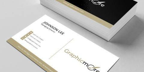Black & Gloden Creative Business Card Template & Mockup Design Free PSD File