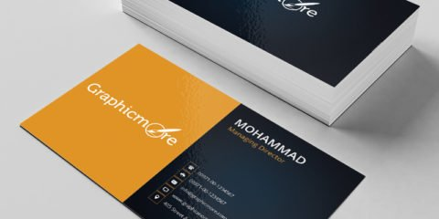 Black & Yellow Business Card Template & Mockup Design Free PSD File