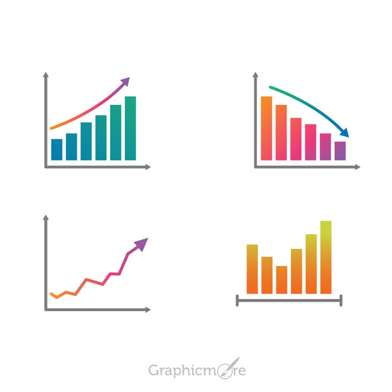Charts Set Design for Infographic Free Vector File