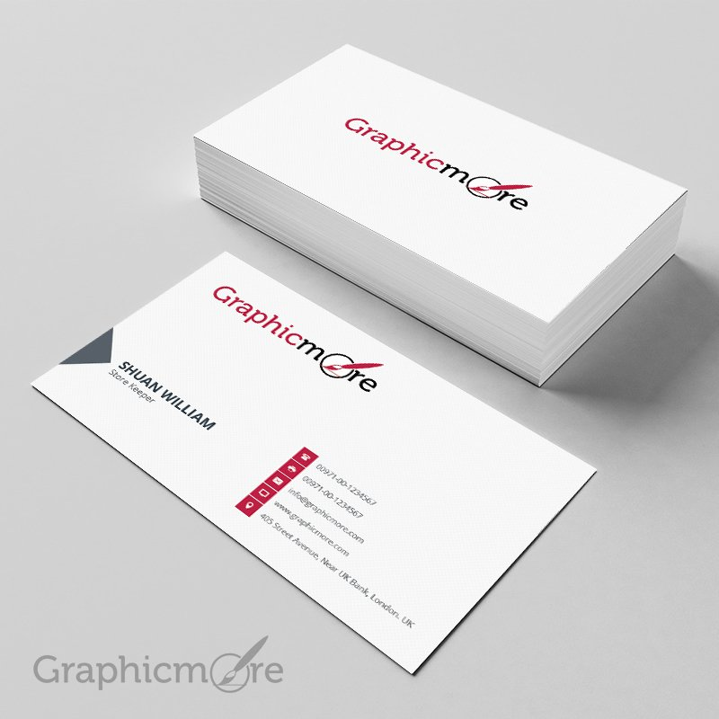 Clean & Corporate Vintage Business Card Template Design Free PSD File