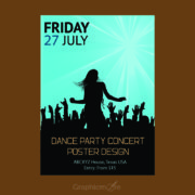 Concert Party Flyer or Poster Design Free Vector File
