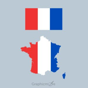 France Flag and Map Design Free Vector File