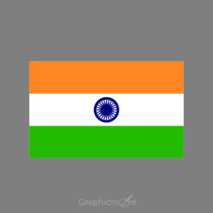 Indian Flag Design Free Vector File