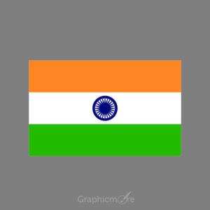 Indian Flag Design Free Vector File