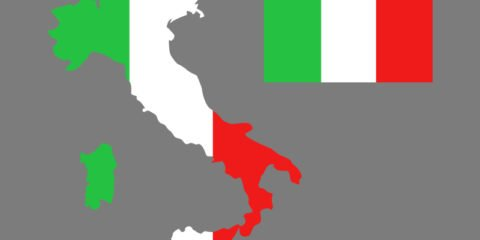 Italy Flag and Map Design Free Vector File