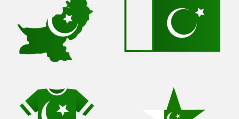 Pakistani Flag Map Jersey and Star Badge Design Free Vector File