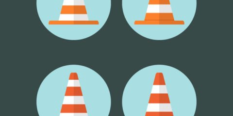 Safety Traffic Cones Design Free Vector File
