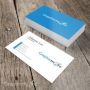 Simple Minimal Business Card Template Design Free PSD File