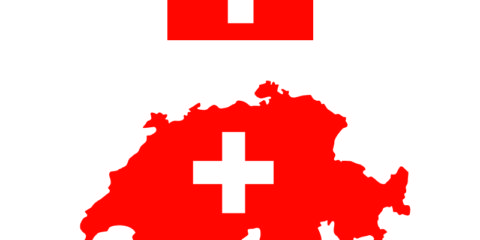 Switzerland Flag and Map Design Free Vector File