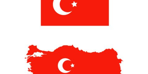 Turkey Flag and Map Design Free Vector File