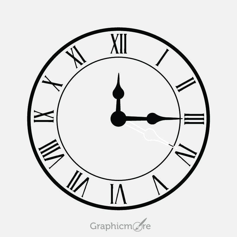 Vintage Clock Design Free Vector File