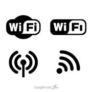 Wifi Logo Icons Set Design Free Vector File